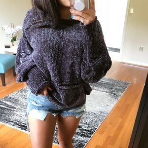 Sweaters - SALE* LAST ONE* Distressed PLUSH Chenille